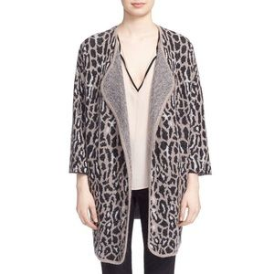 Joie wool animal print open cardigan size XS